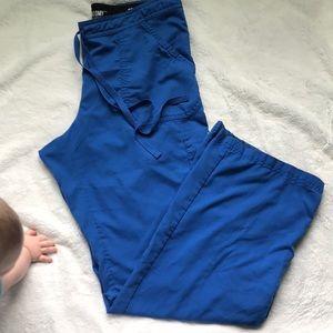 Royal blue Greys Anatomy scrub pants